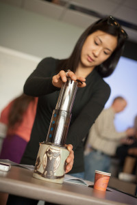 We actually had two Aeropress hacks classes teaching two completely different methods!