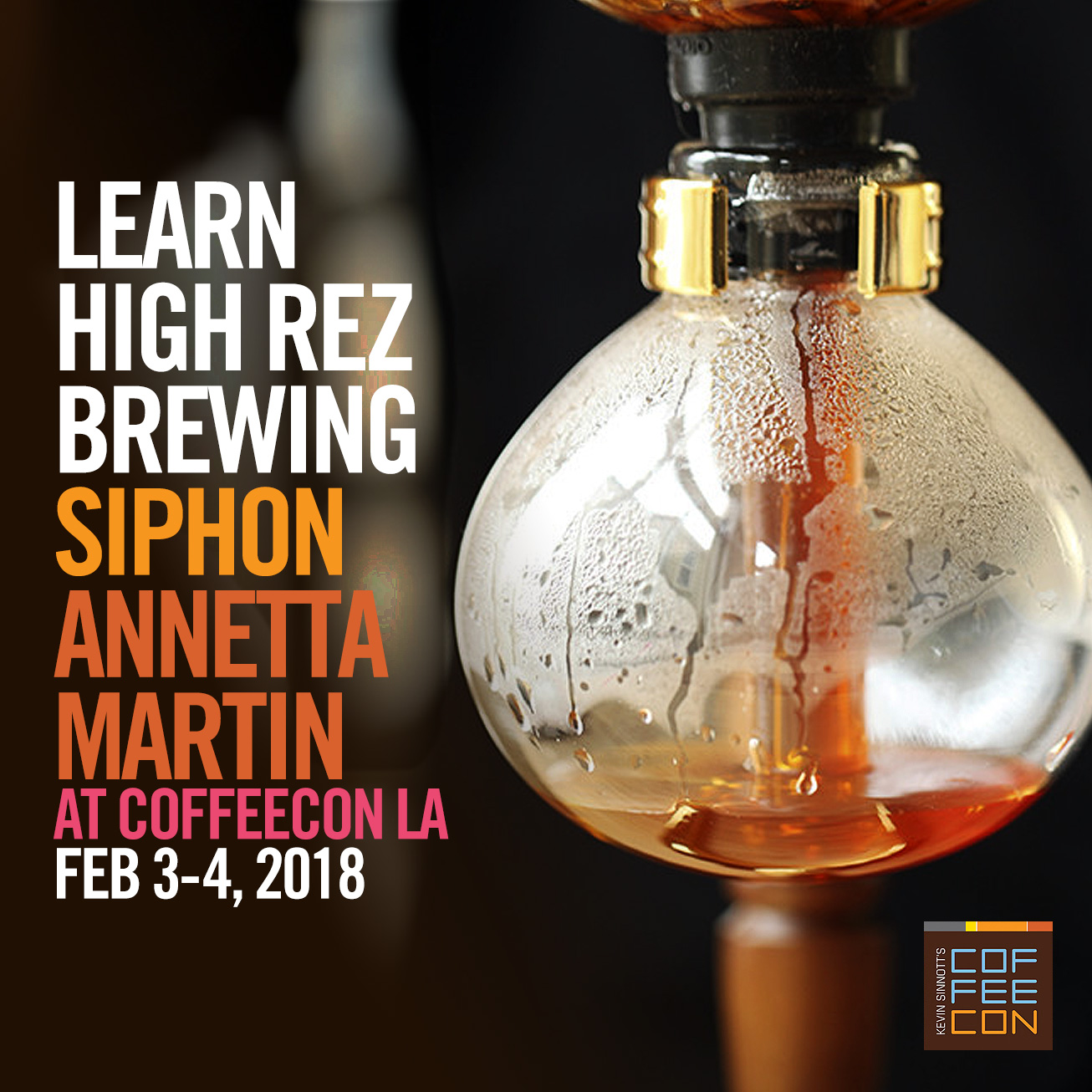 Learn Siphon Brewing at CoffeeConLA 2018