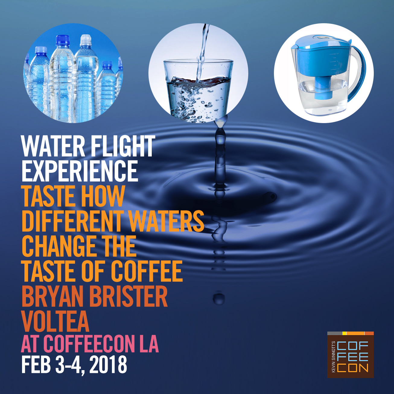 Water Flight Experience at CoffeeConLA 2018