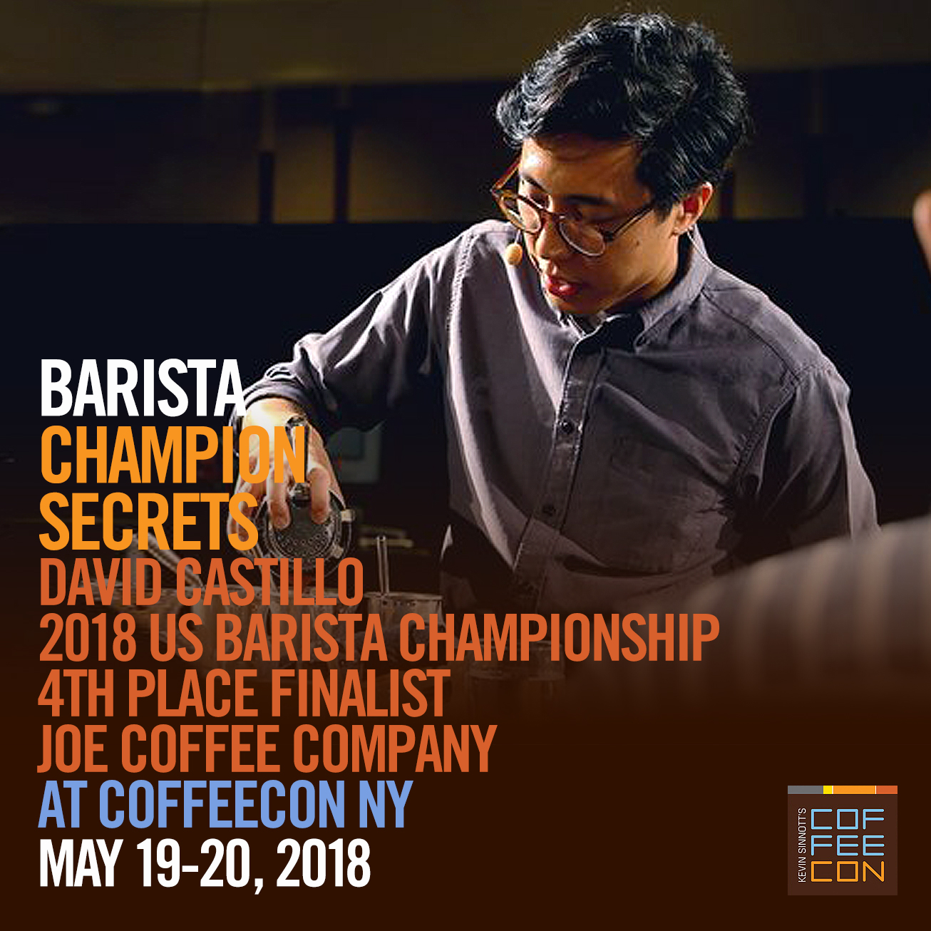 Barista Champion Secrets with David Castillo at CoffeeConNY