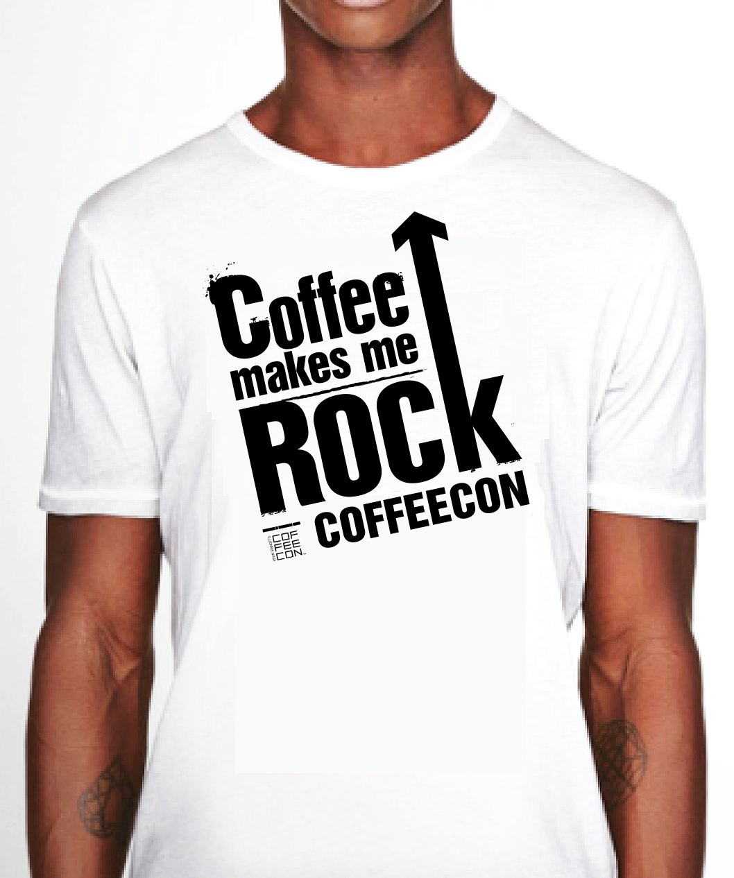 Coffee Makes Me Rock White T-Shirt