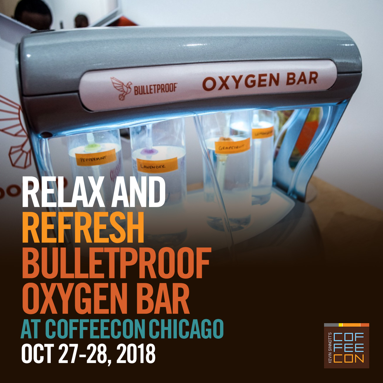 Bulletproof Oxygen Bar at CoffeeConChi 2018