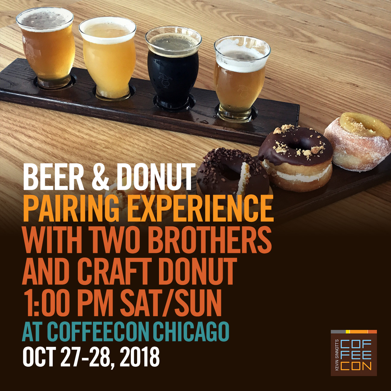 Beer and Donut Pairing at CoffeeConChicago 2018