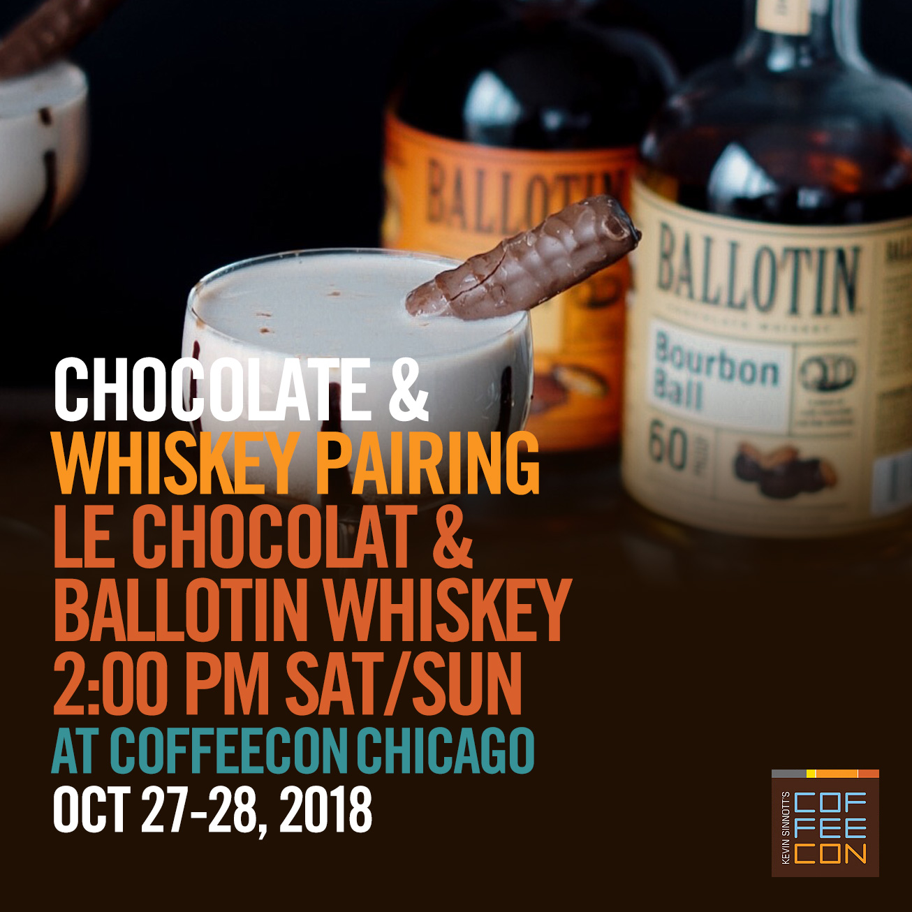 Chocolate and Whiskey Pairing at CoffeeConChicago 2018
