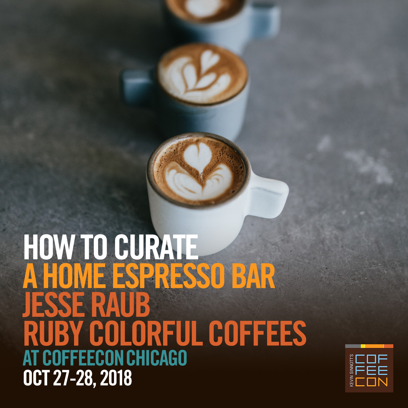 How to Curate a Home Espresso Bar with Ruby Coffees Coffee at CoffeeConChicago 2018