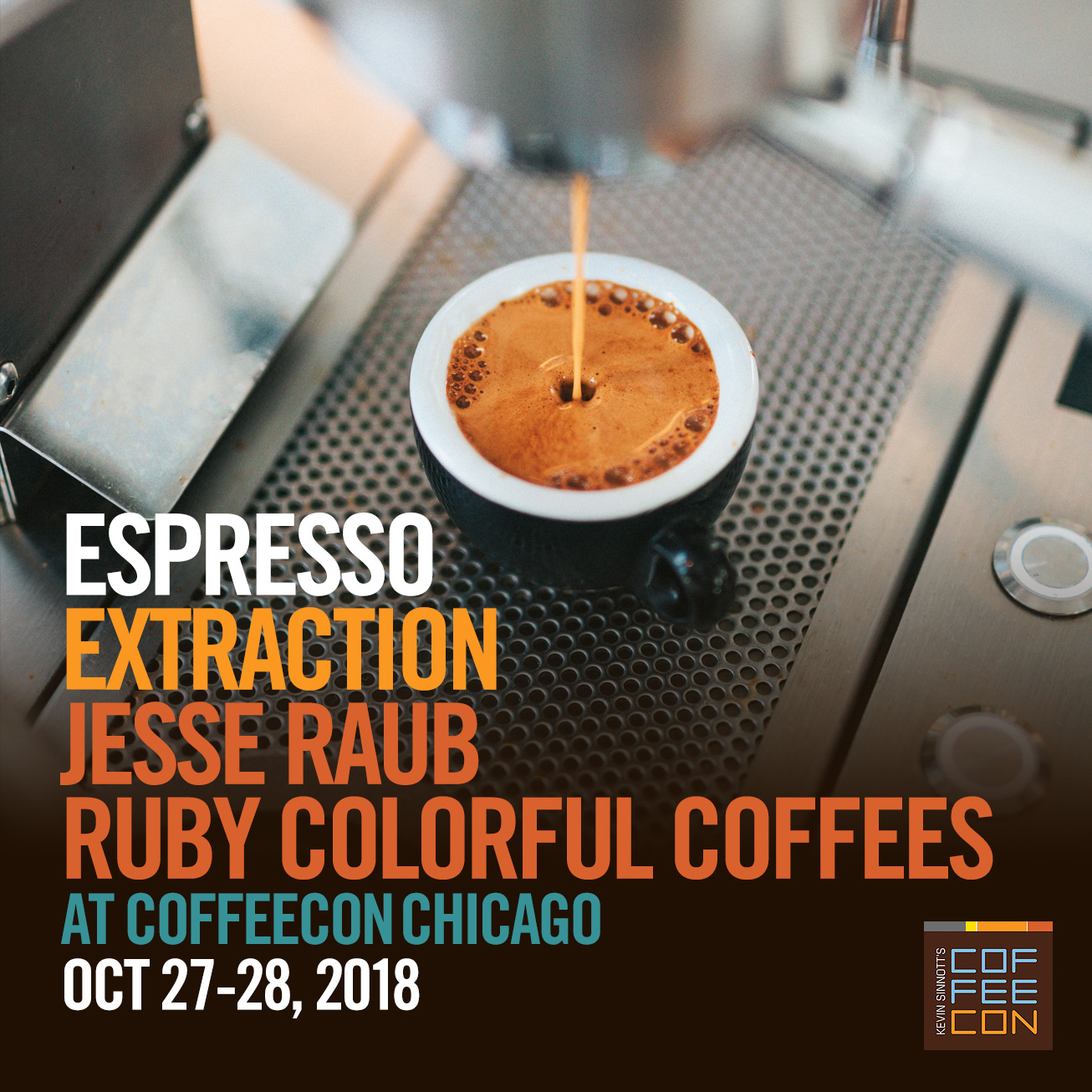 Espresso Extraction with Ruby Colorful Coffees at CoffeeConChi 2018