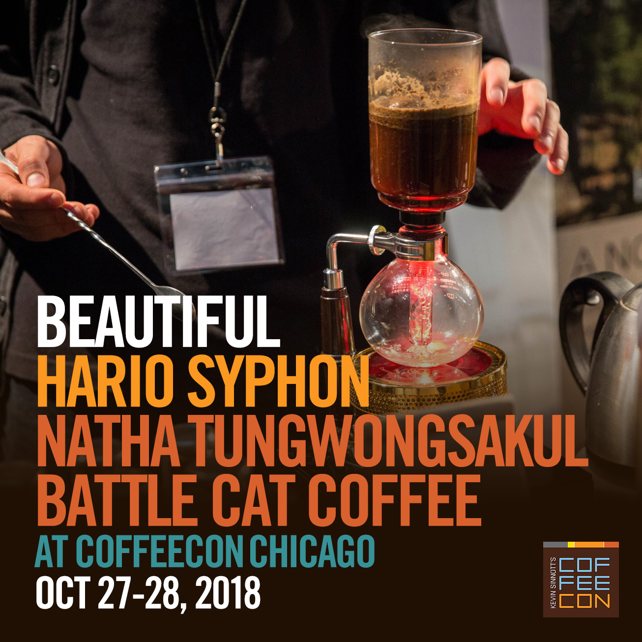 Hario Syphon with Battle Cat Coffee Coffee at CoffeeConChicago 2018