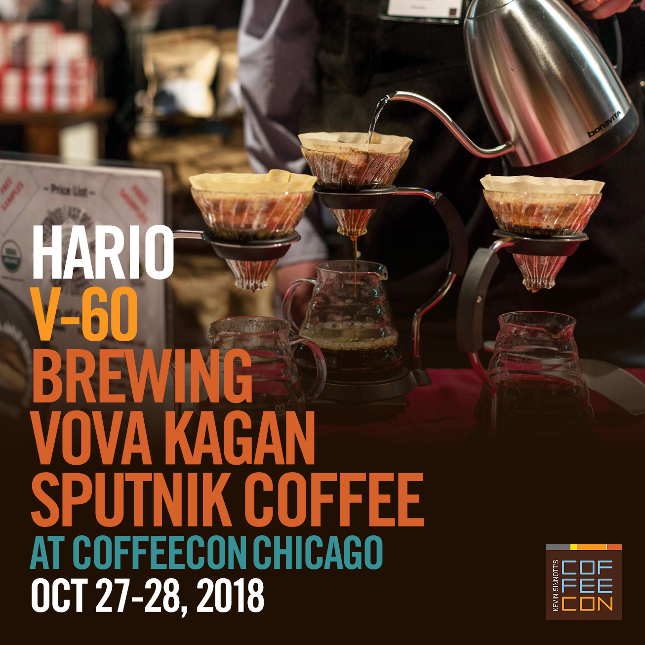 Hario V-60 with Sputnick Coffee Coffee at CoffeeConChicago 2018