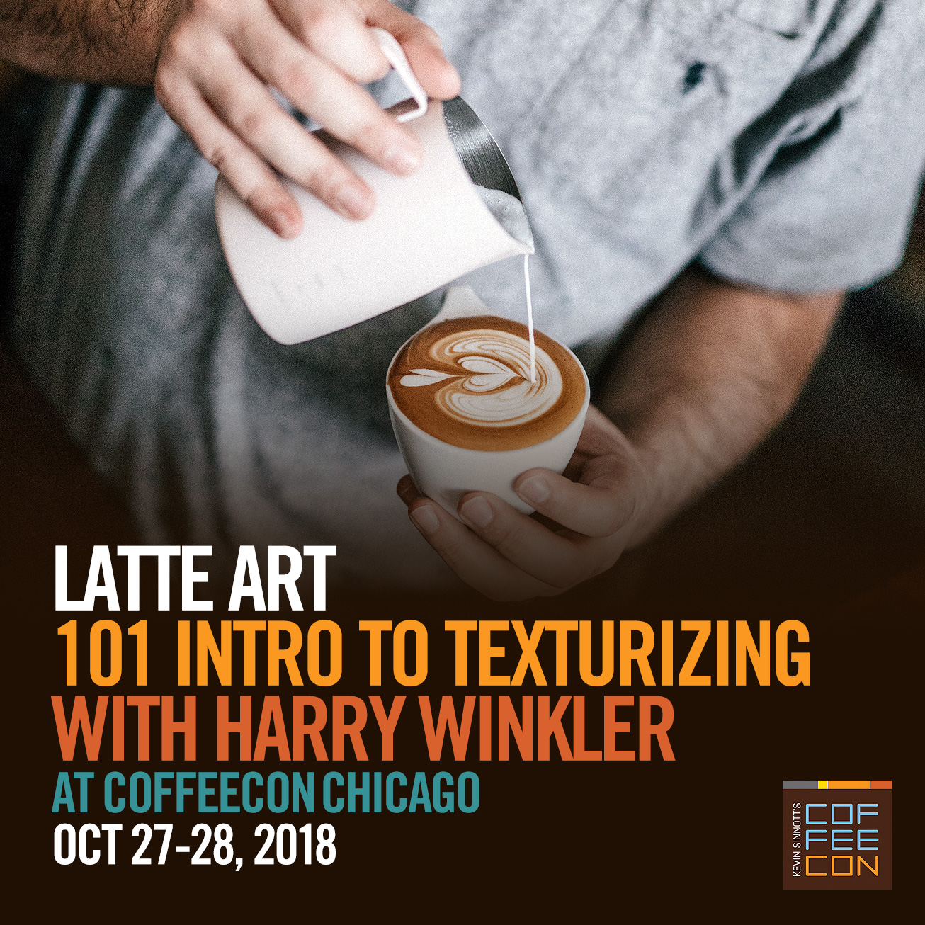 Latte Art 101 with Harry Winkler at CoffeeConChi 2018
