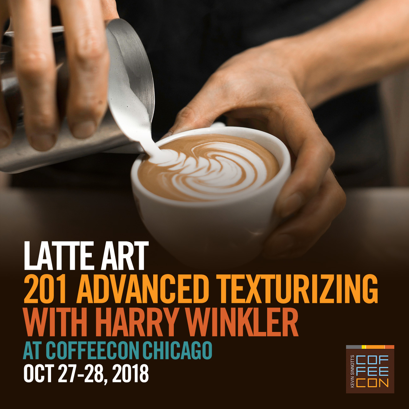 Latte Art 201 with Harry Winkler at CoffeeConChi 2018