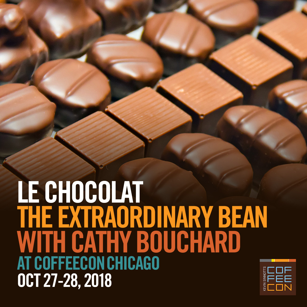 Le Chocolat with Cathy Bouchard at CoffeeConChi 2018
