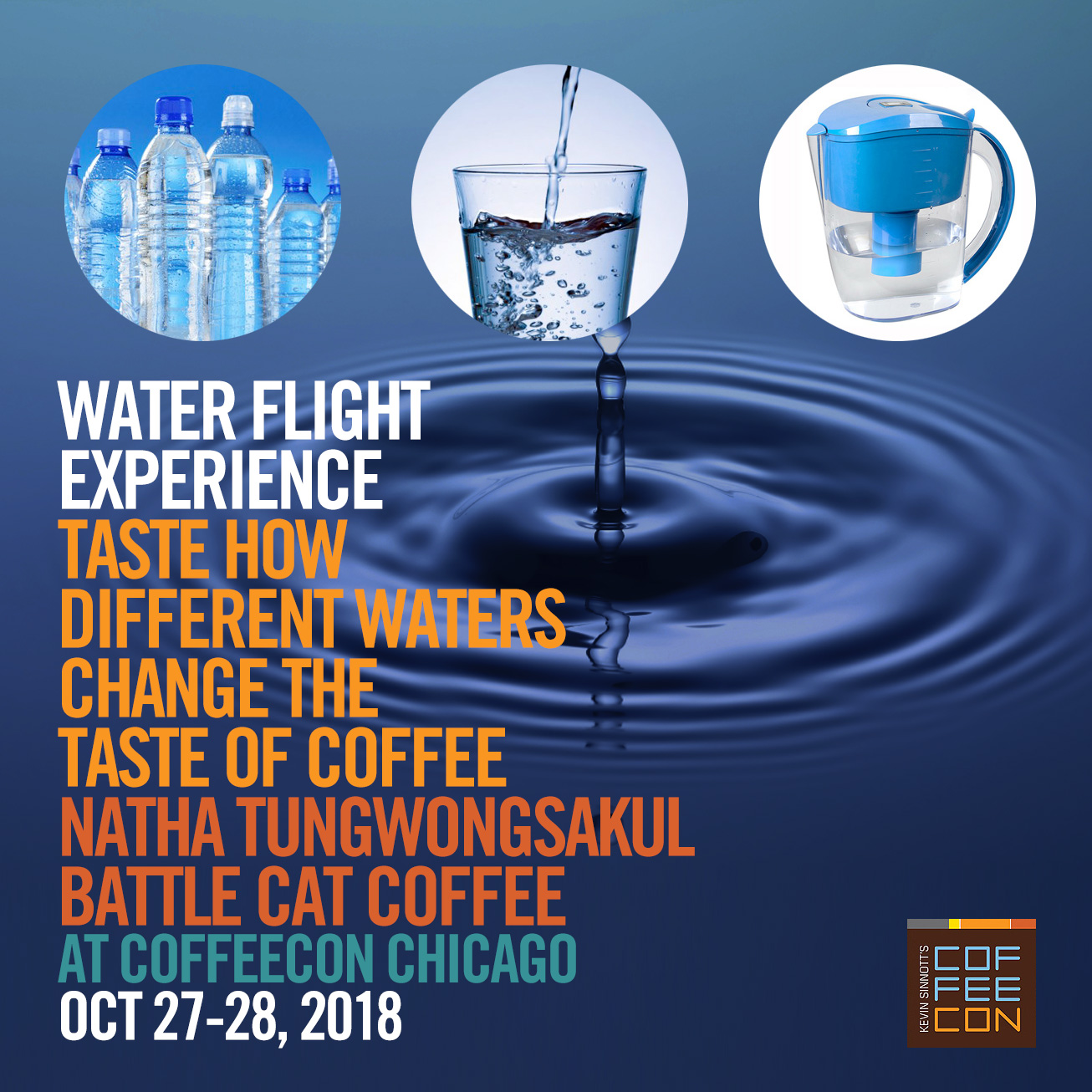 Water Flight Experience with Battle Cat Coffee at CoffeeConChi 2018