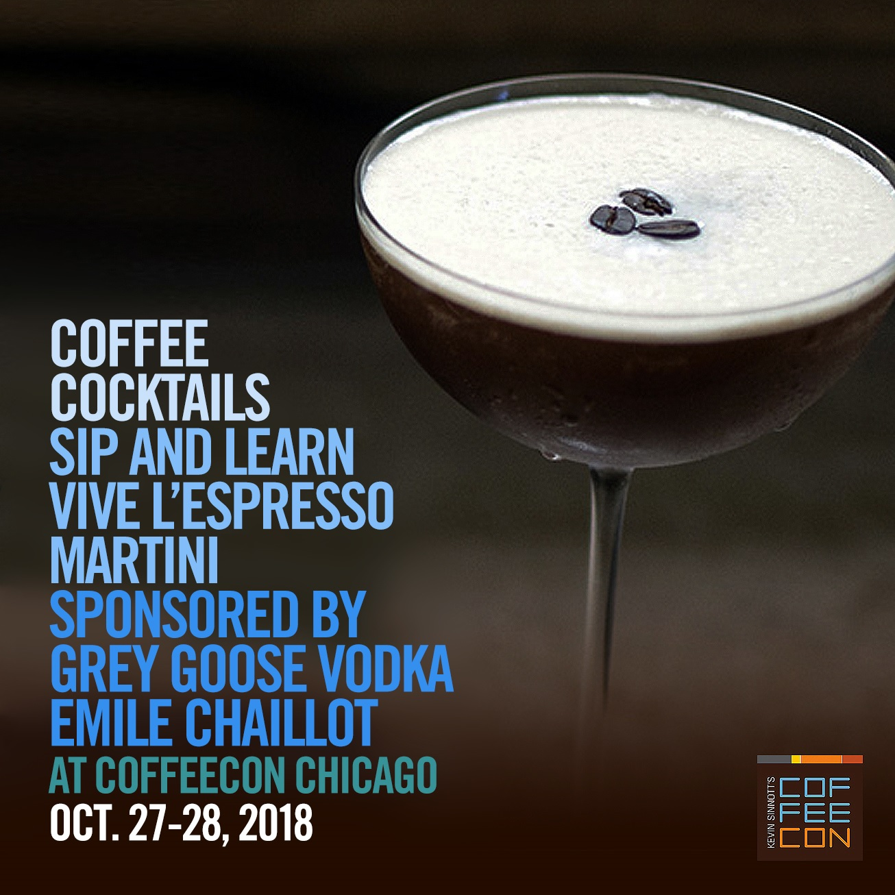 Coffee Cocktails with Grey Goose Vodka CoffeeConChicago 2018